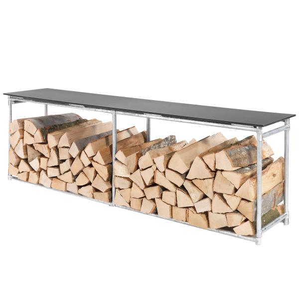 Details: Stockage de bois banc 160x32 | hauteur: 46