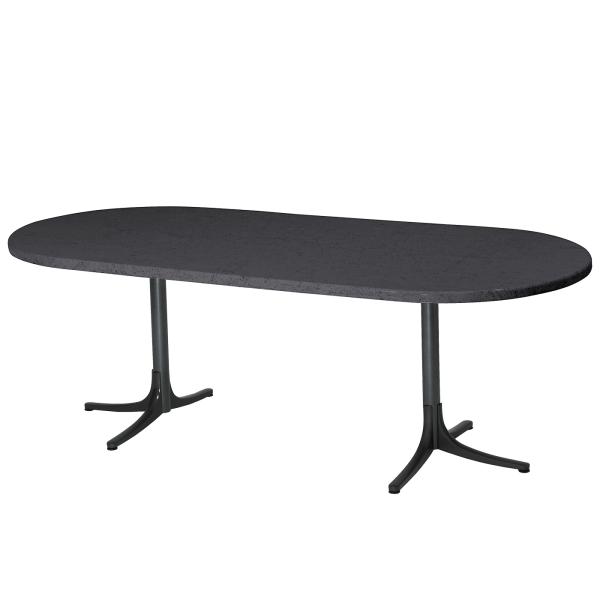 Details: Fiberglass table Schaffhausen oval 160/218x95 extendable
