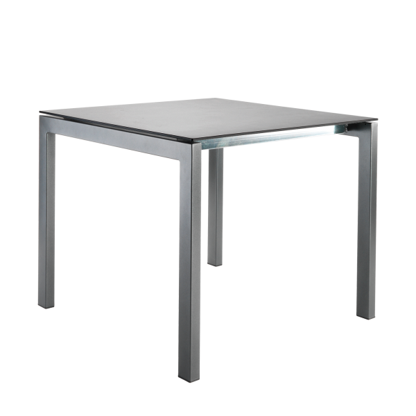 Details: Fiberglass table Luzern 90x90