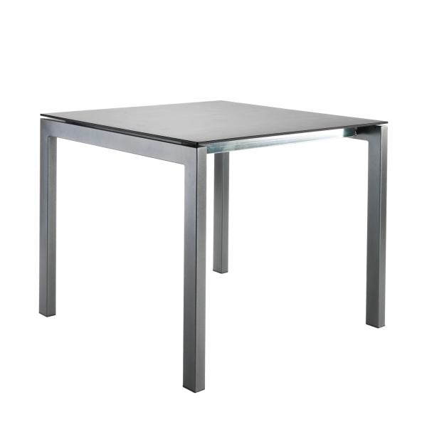 Details: Table en fibre de verre Luzern 80x80