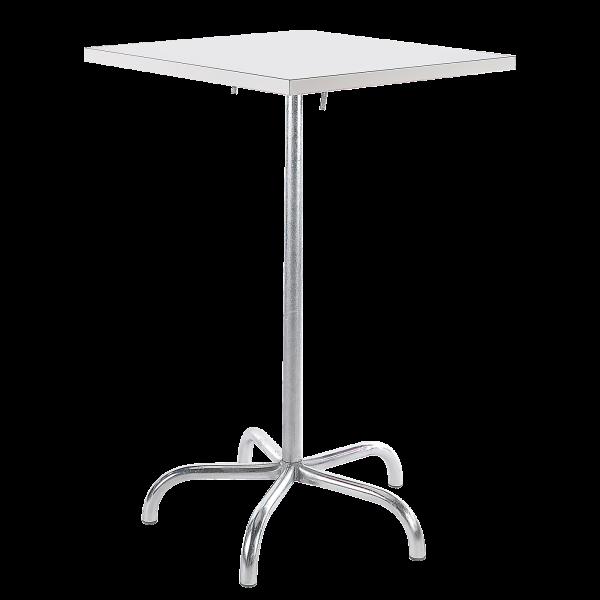 Details: Metal bar table Säntis 80x80