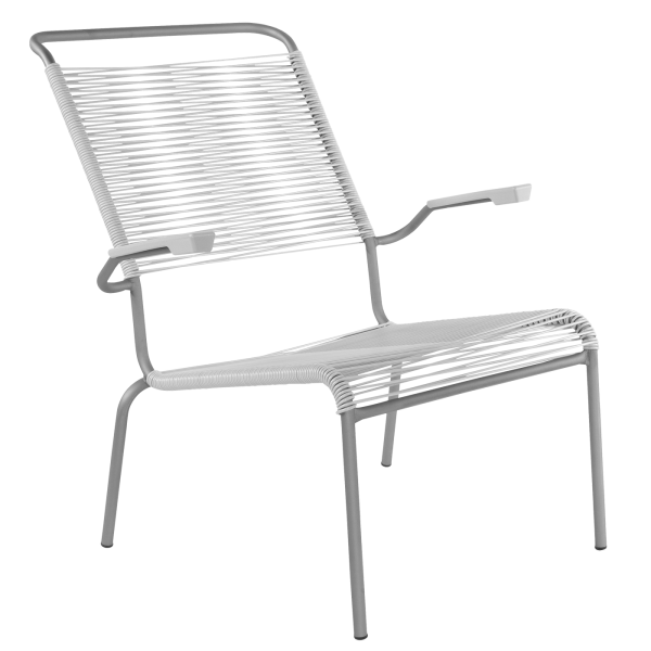 Details: «Spaghetti» lounger Säntis with armrest (high backrest)