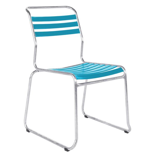 Details: Chaise à lattes de dérapage sans accoudoir