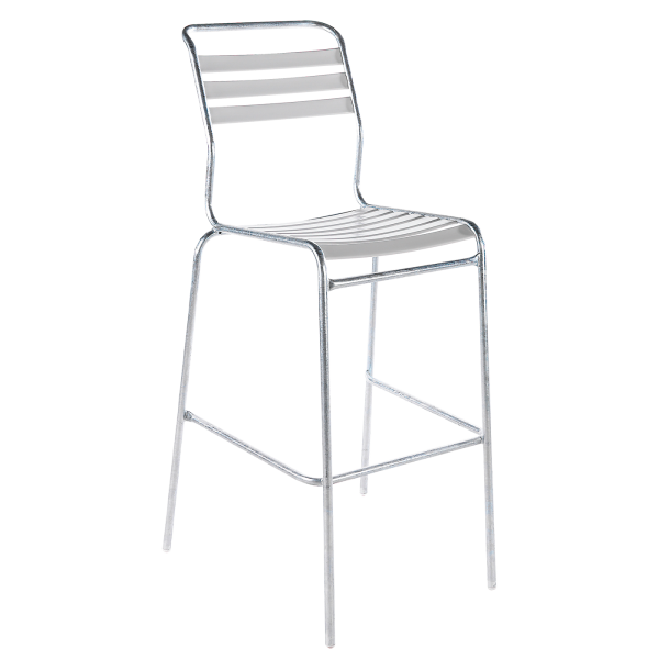 Details: slatted bar stool Säntis without armrest