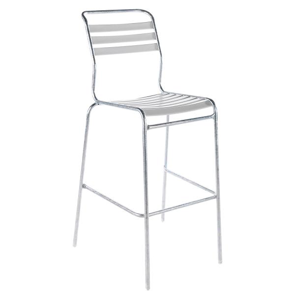 Details: Chaise de bar à lattes sans accoudoir