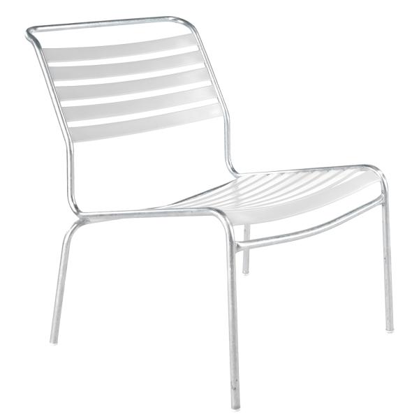 Details: Säntis chaise lounge à lattes sans accoudoir
