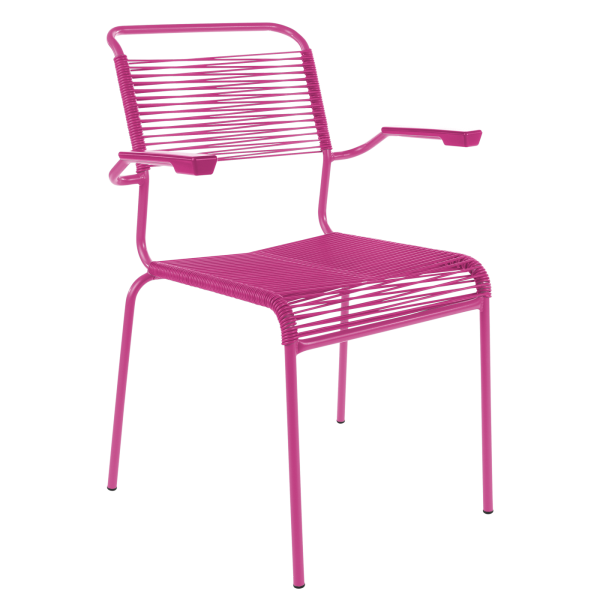 Details: Chaise à «spaghetti» avec accoudoir