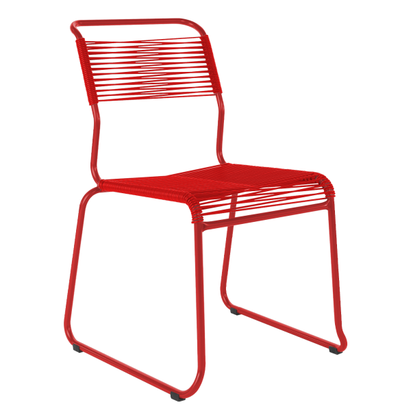 Details: Chaise de dérapage à «spaghetti» sans accoudoir