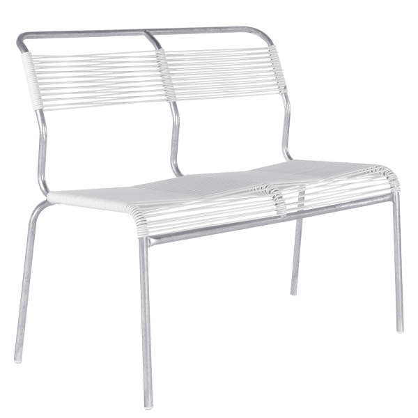 Details: «Spaghetti» two-seater bench Säntis without armrest