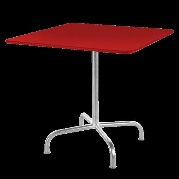 Details: Metal table Rigi 80x80