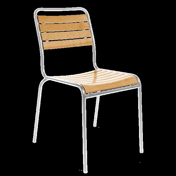 Details: Slatted chair Rigi without armrest