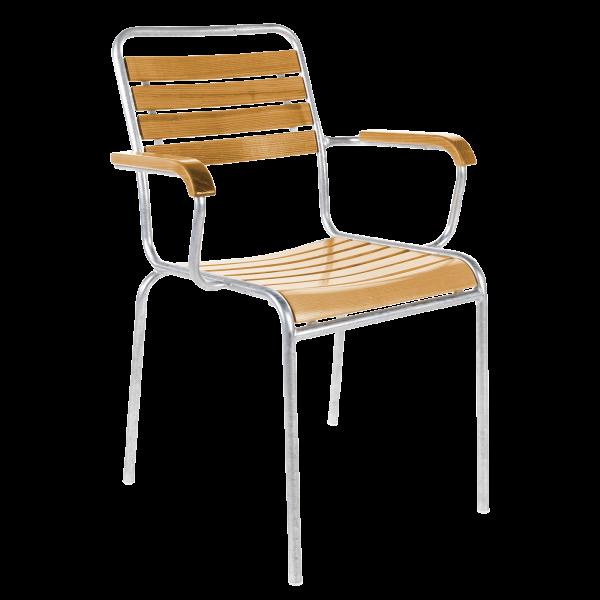 Details: Slatted chair Rigi with armrest