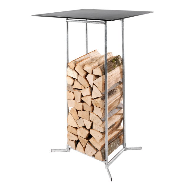 Details: Wood storage - bar table 70x70 | height: 110